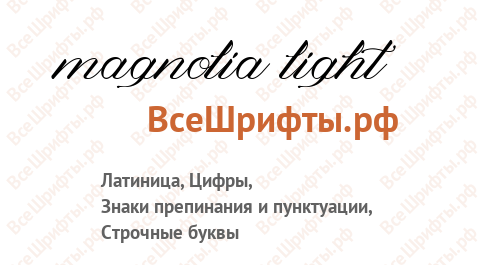 Шрифт Magnolia Light
